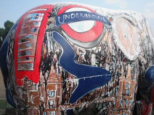 An Indian elephant in London Town