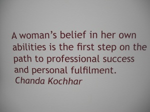 Chanda Kochhar is one of the only female CEOs in India