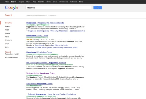 Happiness - Google it