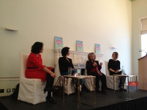 Left to Right: Samira Khan, Kamin Mohammadi, Haifa Zangana and Elif Shafak [My own photo]