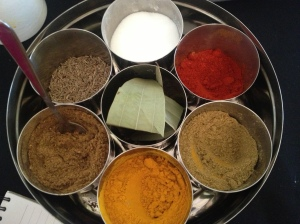 The plate of spices... [My photo]