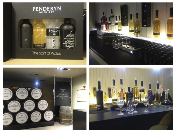 Penderyn...gift shop minis, the barrels and the tasting