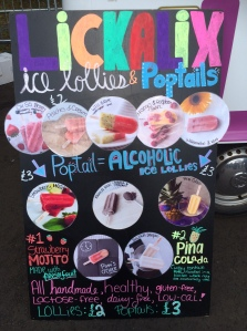 Alcoholic iced lollies. Because why not?