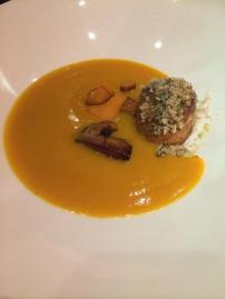 Squash soup with scallop